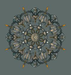 engine mandala vector image