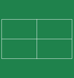 Flat pin pong table top view of ping pong field w vector