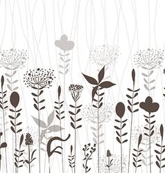 Florals silhouette vector