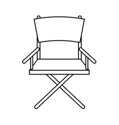 folding chair icon image vector image