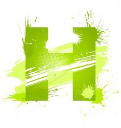 font letter h vector image
