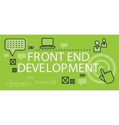 Front end Development Banner Concept vector