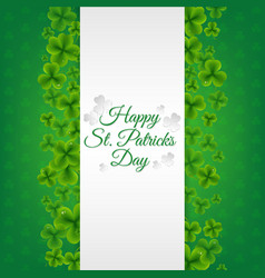 green banner with clovers vector image