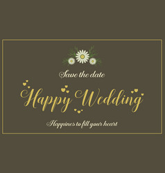 Greeting card for wedding style vector