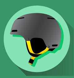 Grey ski helmet vector