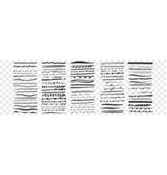 hand drawn lines set collection vector image