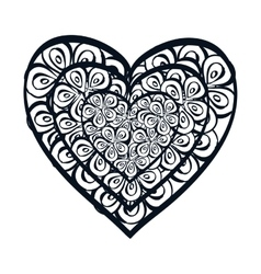 Heart love card icon vector