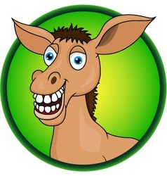 Horse or donkey cartoon vector image