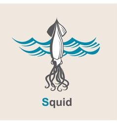 Image of squid vector