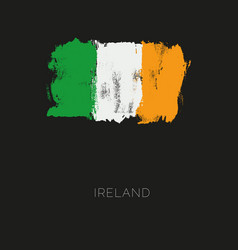 ireland colorful brush strokes painted national vector image
