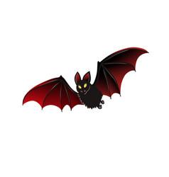 isolated bat halloween design vector image