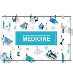 Isometric healthcare concept vector