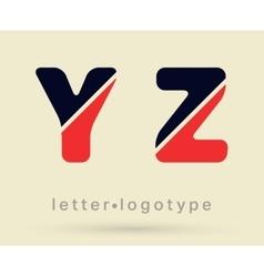 Letter logo font vector