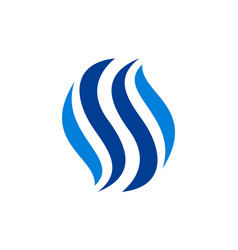 letter s blue fire logo icon vector image