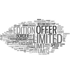 Limited word cloud concept vector