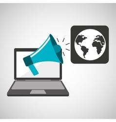 marketing digital world map concept vector image vector image