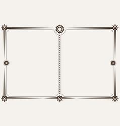 minimalistic landscape orientation border or frame vector image