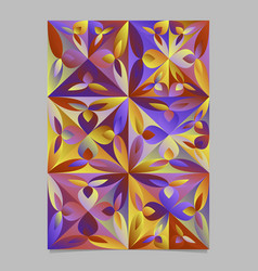 Multicolor geometrical abstract floral mosaic vector