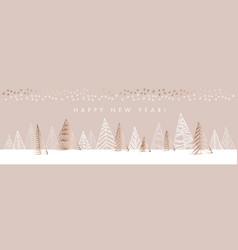 naive christmas tree horizontal design element vector image