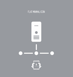 Network server - flat minimal icon vector