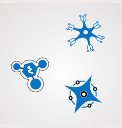 neuron techno logo icon element and template for vector image