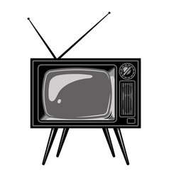 old tv set template vector image