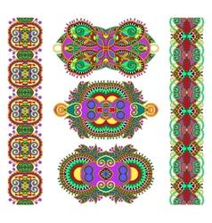 Ornamental ethnic decorative floral adornment vector