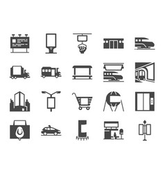 out home media icon set vector image