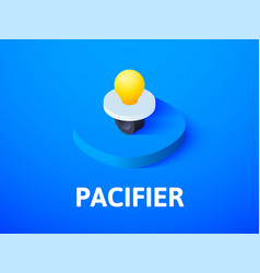 pacifier isometric icon isolated on color vector image