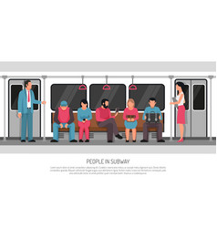 People subway transport poster vector