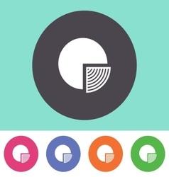 Pie chart diagram icon vector