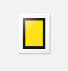 poster frame template design vector image