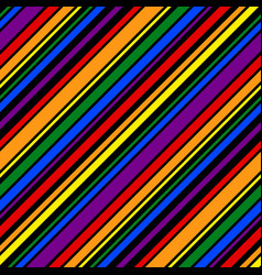 rainbow pattern seamless line for design print vector image