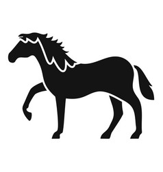 riding horse icon simple style vector image