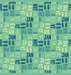 Rio de janeiro seamless pattern vector