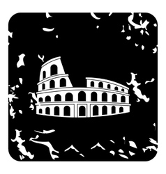 Roman Colosseum icon grunge style vector image