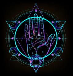 sacred geometry and boo symbol set ayurveda sign vector image