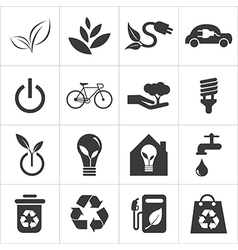 Save world and clean energy icon vector