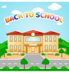 School building for back to school vector