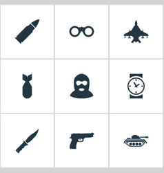 Set 9 simple terror icons can be found such vector
