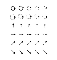 Set of hand-drawn arrows vector image