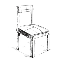 Sketch chair icon vector image