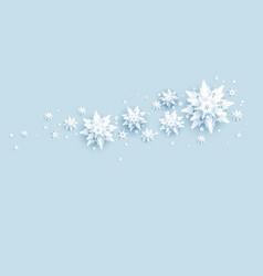 snow falling decor vector image