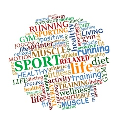 Sports tag cloud vector