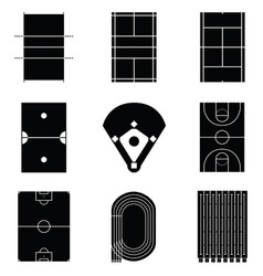 stadium icon set vector image