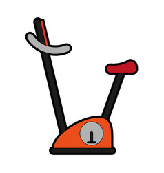 Stationary bike icon image vector