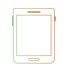Tablet device icon in degraded green to red color vector