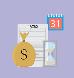 tax day concept vector image