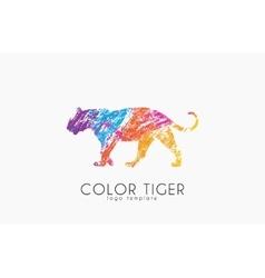 Tiger logo color design creative logo vector