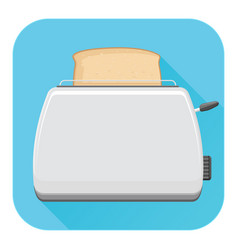 toaster flat design blue square icon vector image